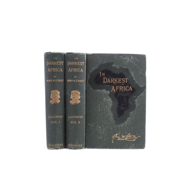 First Edition 2 Vol. In Darkest Africa By Stanley