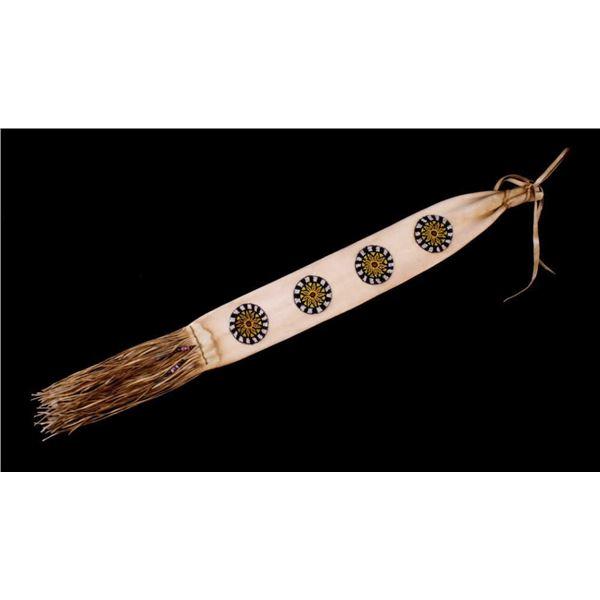 Large Navajo Beaded Hide Tobacco Bag