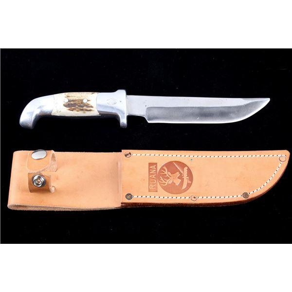 R.H. Ruana Skinner Knife & Leather Scabbard