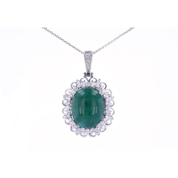 GIA Certified Emerald & Diamond Platinum Necklace