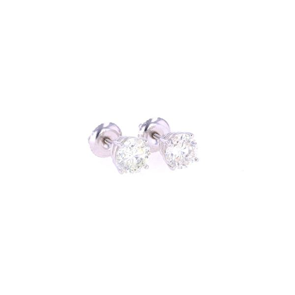Brand New 2.12 ct. Diamond 18K Stud Earrings