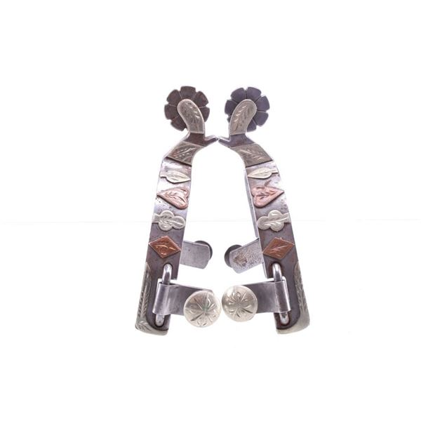 Cowpuncher #613 Silver & Copper Mounted Spur