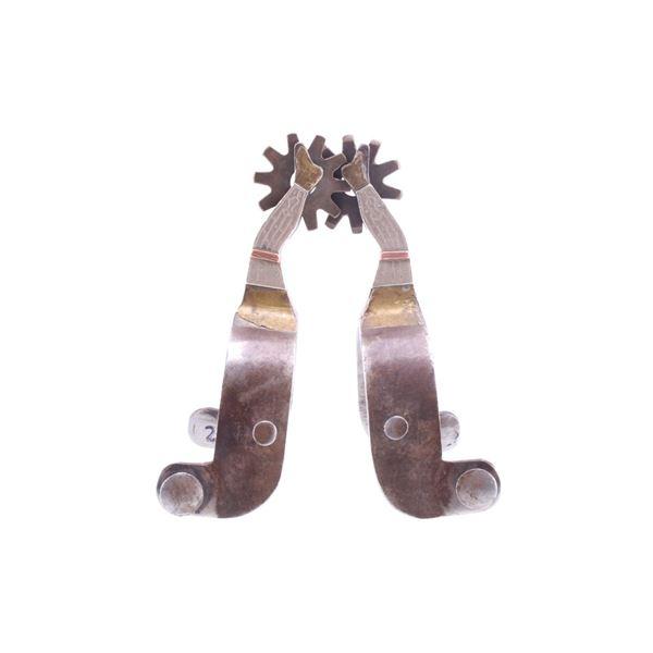 Chandler Silver & Brass Gal Leg Spur Pair
