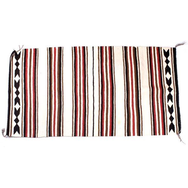 Navajo Hand Woven Banded Chinle Rug circa 1960's