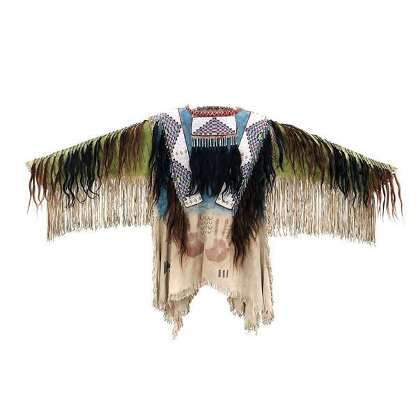 Sioux Style Beaded Hide War Shirt w/ Fringe