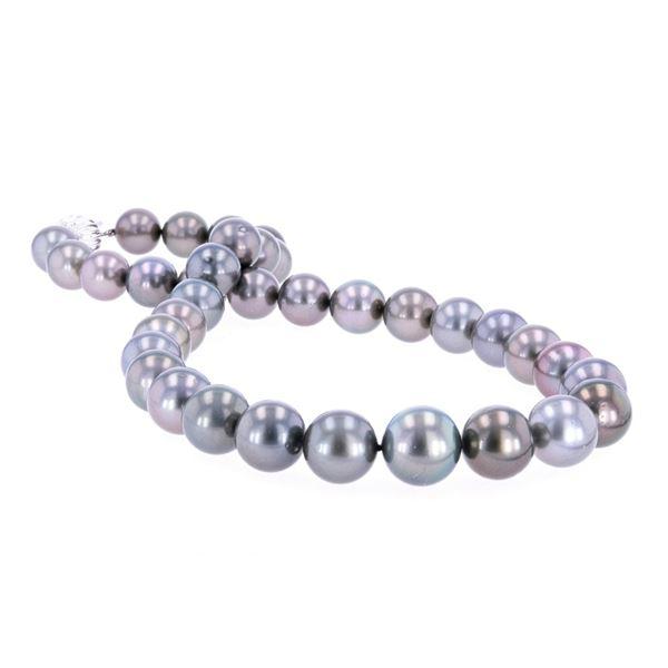 Tahitian Pearl Diamond & 14k Gold Necklace