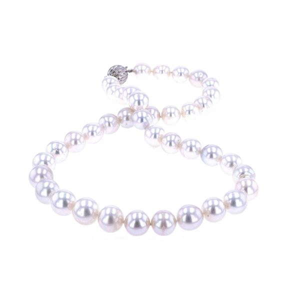 Opulent South Sea White Pearl 14K Gold Necklace