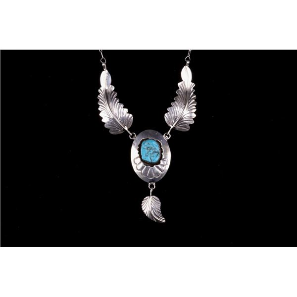 Navajo Arnold Maloney Silver Turquoise Necklace