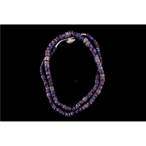 Seven Layer Chevron Trade Bead Necklace