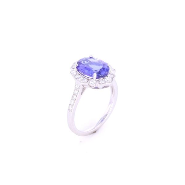 Classic Tanzanite Diamond Ring w/ AIGL Paperwork