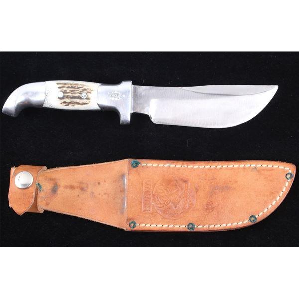 R.H. Ruana Skinner Knife & Leather Sheath