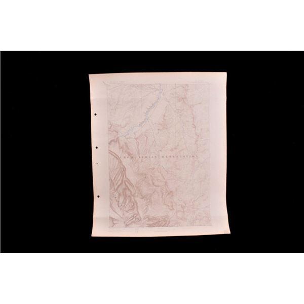 1894 Montana Crow Indian Reservation Map