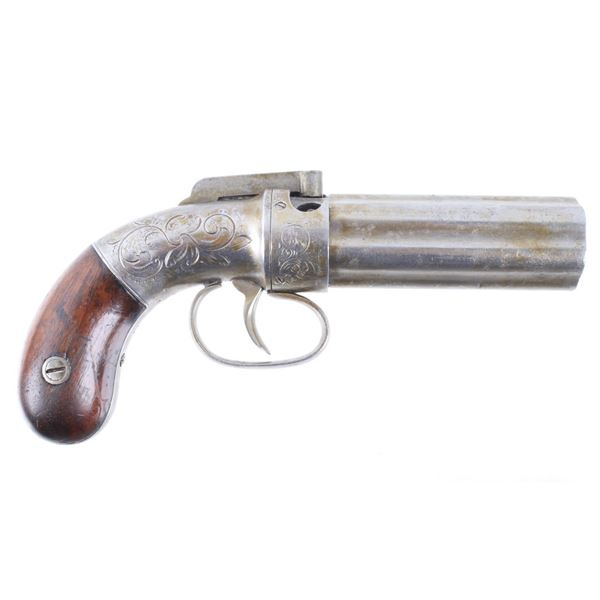 Allen & Thurber Engraved Six Shot Pepperbox Pistol