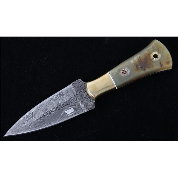 Rocky Mountain Rams Horn Damascus Bozeman Knife