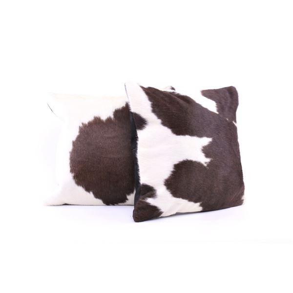 Holstein Spotted Cowhide Premium Pillow Set of Two