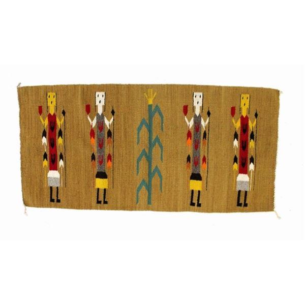 Navajo Female Yei or Yeibichai Hand Made Wool Rug