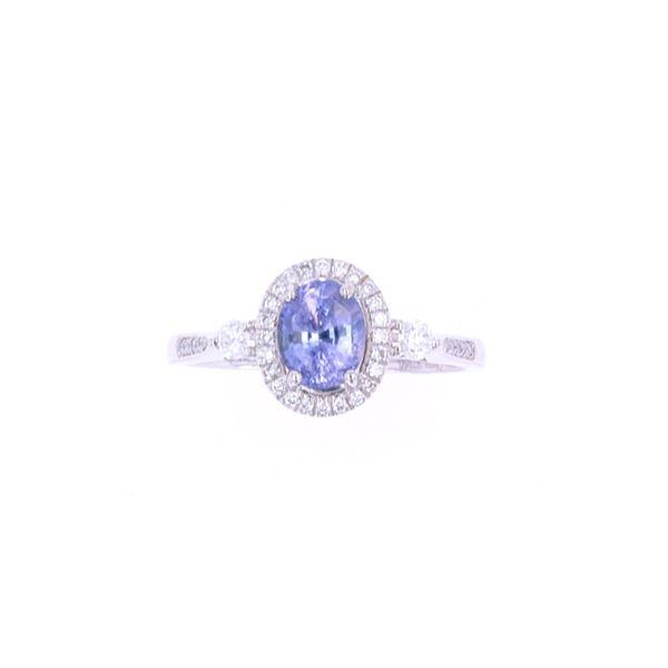 RARE Unheated Natural Sapphire & Diamond Ring