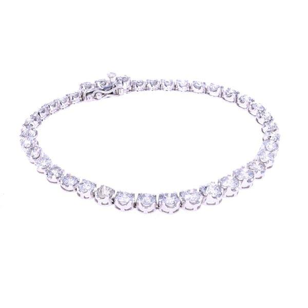 Amazing 9.1ct Diamond & 14k White Gold Bracelet