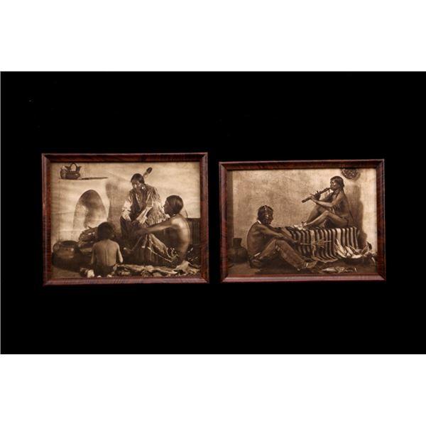 Navajo Framed Prints by Carl Moon c.1900