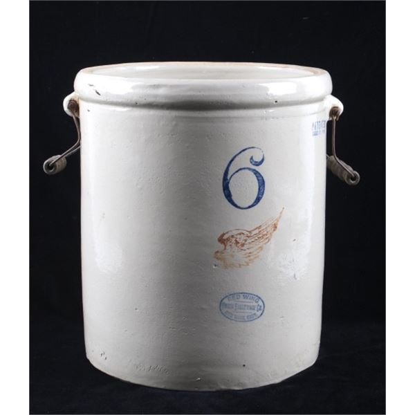 Early 1900's Red Wing 6 Gallon Pottery Crock