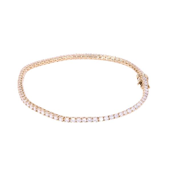 Luxury Brilliant Diamond 14k Yellow Gold Bracelet