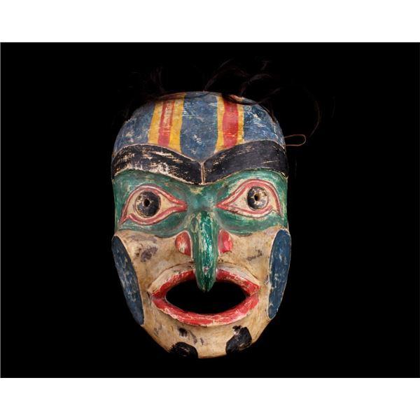 Pacific Northwest Kwakiutl Spirit Wrestler Mask