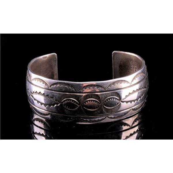 Navajo Lynn Edsitty Sterling Silver Bracelet