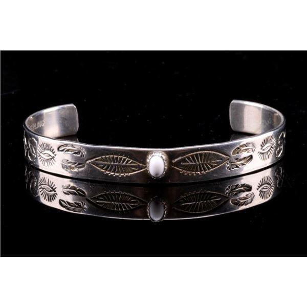 Navajo Sterling & Buffalo Turquoise Bracelet