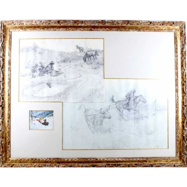 Charlie Dye Three Original Works in One Frame