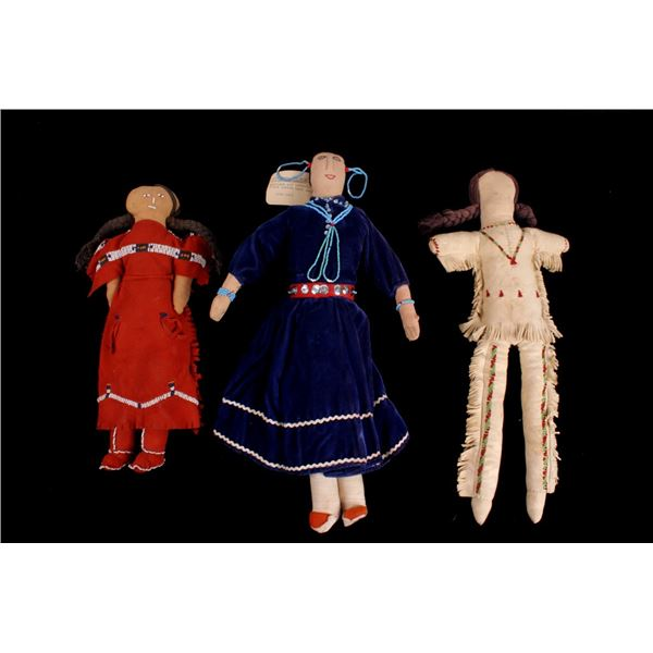 Collection of Navajo Beaded Dolls c. 1940-50's