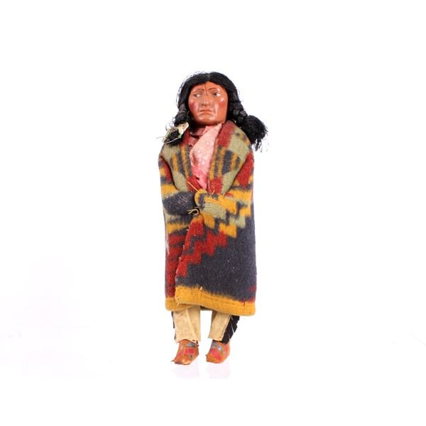 Young Man Skookum Doll w/ Trade Blanket Garment