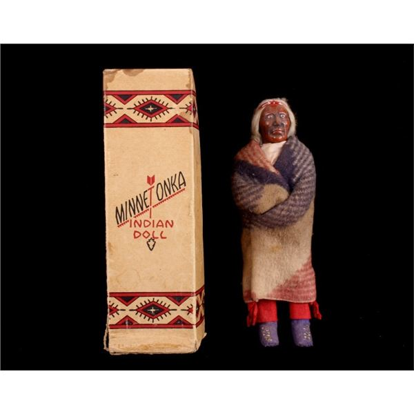 1930s Old Man Trade Blanket Garment Skookum Doll