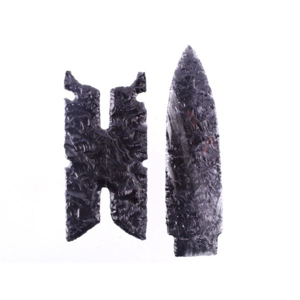 Obsidian Lanceolate Spear & Fishing Spear Point