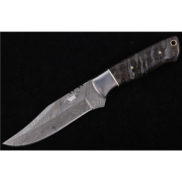 M.T. Knives of Bozeman Rams Horn Damascus Knife