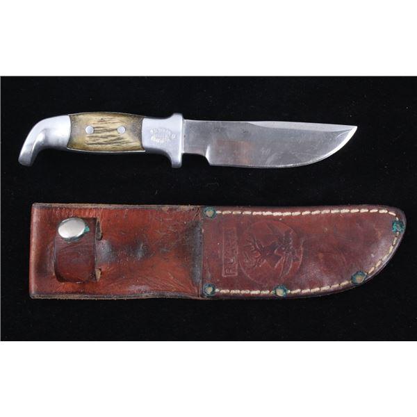 R.H. Ruana Camp Knife & Leather Sheath