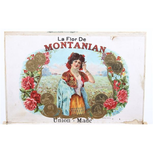 Original 1920's La Flor De Montanian Cigar Box