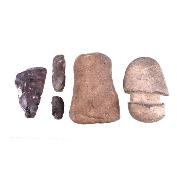 Pre-historic Native American Ax Heads & Scrapers