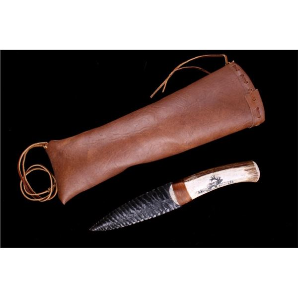 Michelle Severe Obsidian & Scrimshaw Knife