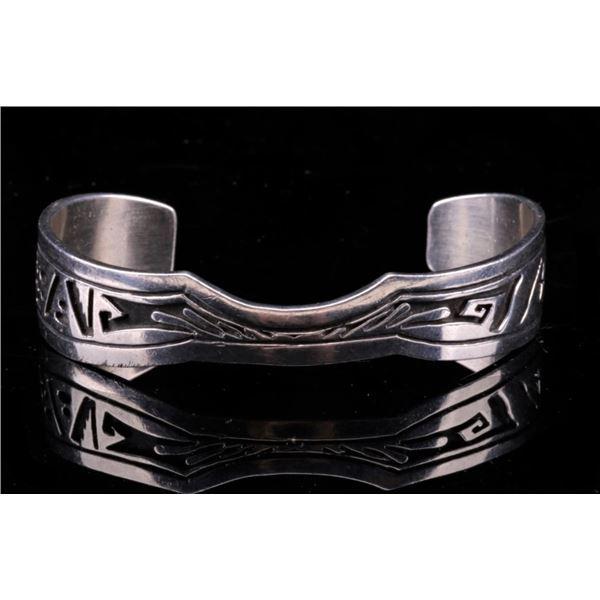 Navajo Wilson Padilla Sterling Silver Bracelet
