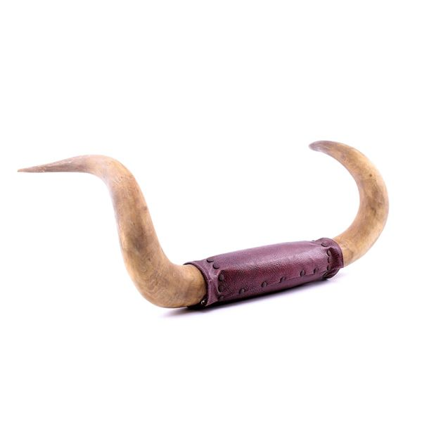 Montana Steer Horn Leather Wrapped Wall Mount