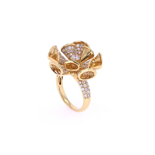 Triumphant Diamond 18k Yellow Gold Ring