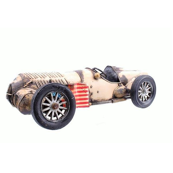 Hand- Built Tin Model Race Car circa 1950's