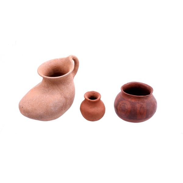 Collection of Three Various Pottery Bowls & Jars