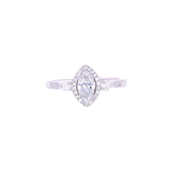 Opulent Marquise Diamond 18k White Gold Ring