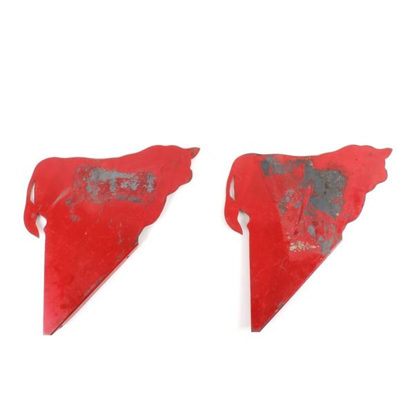 Montana Cattle Metal Mountable Red Signs