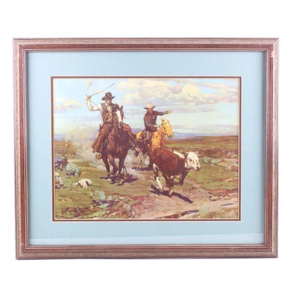 Roping Mavericks by Frank Tenney Johnson Painting