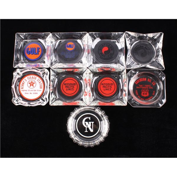 Petroleum & RR Advertising Ashtray Collection