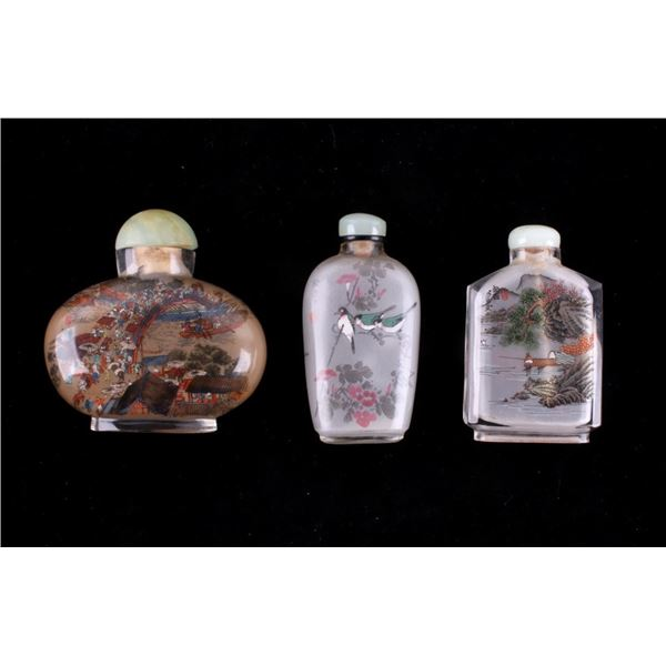 Chinese Reverse Painted Snuff Bottle Collection