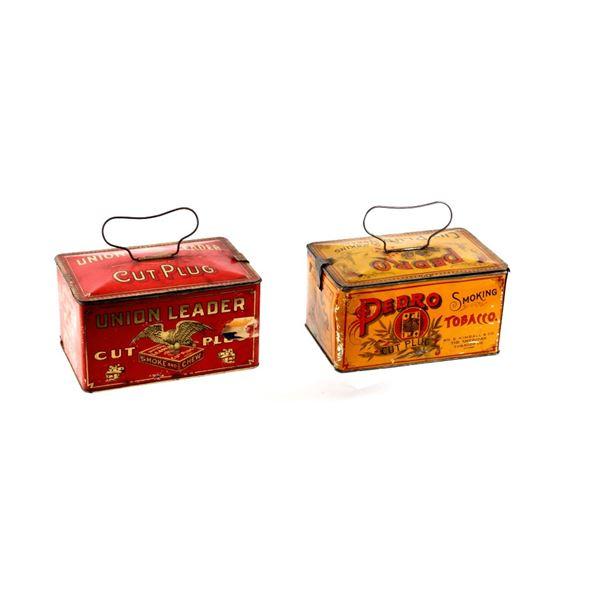 Union Leader C. Plug & Pedro C. Plug Tobacco Boxes