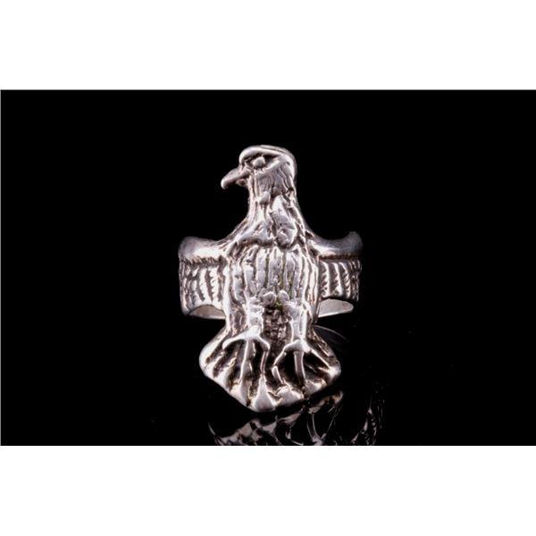 Navajo Sterling Silver Thunderbird Men's Ring